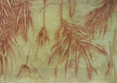 Feuillages de rivière - Pastel - 70 cm x 100 cm
