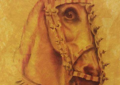 Tête de cheval - Pastel 65 cm x 50 cm