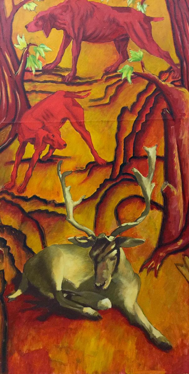 Technique mixte sur toile - 100 cm x 50 cm