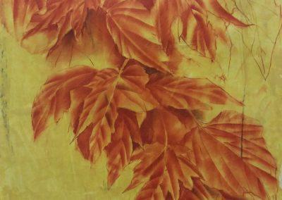 Branche de feuillages – Sanguine sur papier 65 x 50 cm