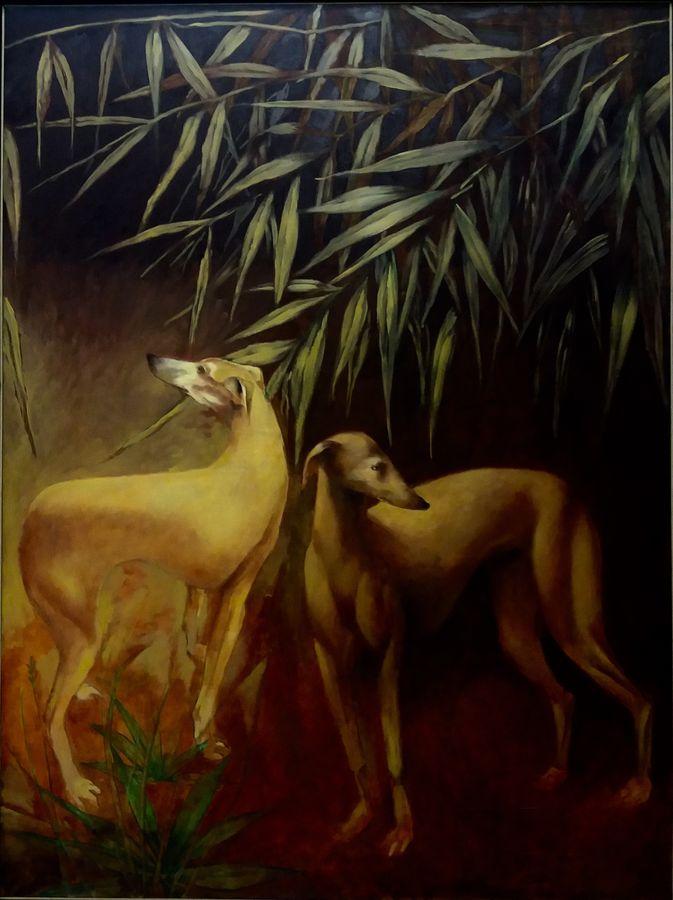 """""""Bruits dans les feuillages"""" - Huile sur toile - 131 cm x 98 cm"""