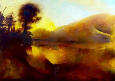 Soir d'été - huile sur toile - 73 cm x 92 cm