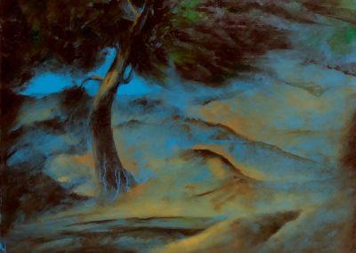 Bourrasque - Huile sur toile - 24 cm x 32 cm
