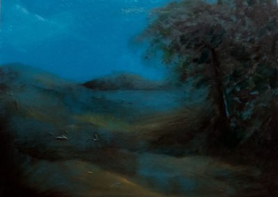 L'île Agot - Huile sur toile - 24 cm x 32 cm