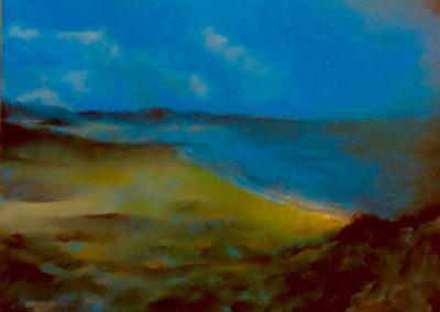 La plage du Nick - Huile sur toile - 30 cm x 42 cm
