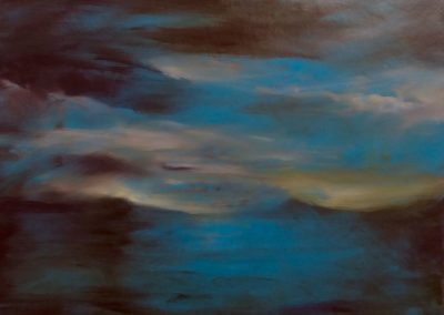 La promesse des nuages - Huile sur toile - 30 cm x 42 cm