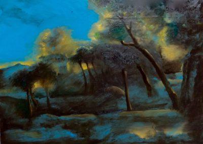 Le bois de Danaé - Huile sur toile - 24 cm x 32 cm
