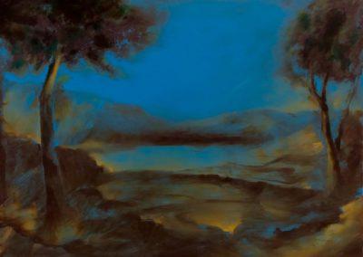 Les berges du Guadiana - Huile sur toile - 24 cm x 32 cm