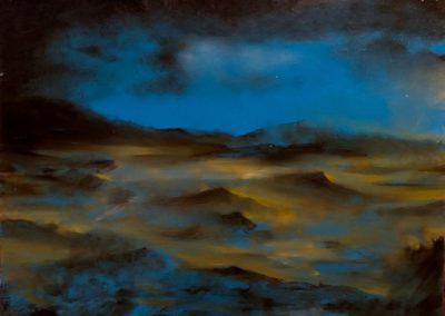 Les sables du vent - Huile sur toile - 24 cm x 32 cm