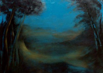 Lointain - Huile sur toile - 40 cm x 32 cm