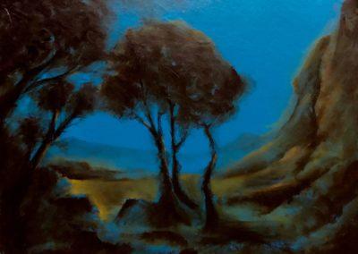 Vers la mer - Huile sur toile - 24 cm x 32 cm